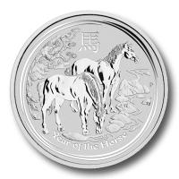 Lunar 2 Pferd 2014 Silber