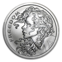 USA - Freedom Girl - 2 Oz Silber