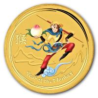 Australien - 15 AUD Monkey King (Affenkönig) 2016 - 1/10 Oz Gold Color