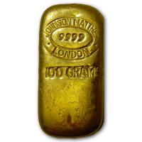 Großbritannien - Johnson Matthey London Goldbarren - 100g Gold