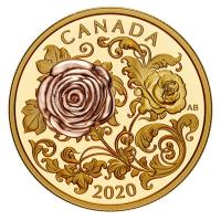 Kanada - 200 CAD The Queen Elizabeth Rose 2020 - 1 Oz Gold Proof