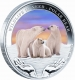 Tuvalu - 1 TVD Wildlife in Need Polarbär 2012 - 1 Oz Silber - The Perth Mint Australia
