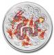 China - 10 Yuan Lunar Drache 2012 - 1 Oz Silber Color - China Gold Coin Corporation