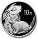 China - 10 Yuan Lunar Hase 2011 - 1 Oz Silber PP - China Gold Coin Corporation