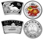 China - 20 Yuan Lunar Hase 2011 Set - 2 * 1 Oz Silber Fächer+Color - China Gold Coin Corporation
