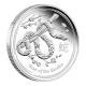 Australien - 0,5 AUD Lunar II Schlange 2013 - 1/2 Oz Silber - The Perth Mint Australia
