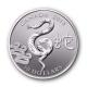 Kanada - 10 CAD Lunar Schlange 2013 - 1/2 Oz Silber - Royal Canadian Mint
