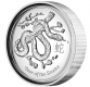 Australien - 1 AUD Lunar II Schlange 2013 - 1 Oz Silber HighRelief - The Perth Mint Australia
