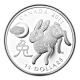 Kanada - 15 CAD Lunar Hase 2011 - 1 Oz Silber - Royal Canadian Mint