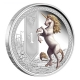 Tuvalu - 1 TVD Mythical Creatures Unicorn 2013 - 1 Oz Silber - The Perth Mint Australia
