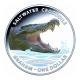 Australien - 1 AUD Krokodil Serie Graham 2014 - 1 Oz Silber Color PP - Royal Australian Mint