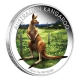 Australien - 1 AUD WMF Känguru 2014 - 1 Oz Silber Color