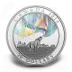 Kanada - 20 CAD Nordlichter: Heulender Wolf 2014 - 1 Oz Silber