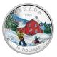 Kanada - 10 CAD Winterszene 2015 - 1/2 Oz Silber
