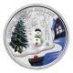 Kanada - 20 CAD Schneemann Venezianisches Glas - 1 Oz Silber PP
