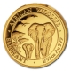 Somalia - 20 Shillings Elefant 2015 - 1/50 Oz Gold