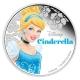Niue - 2 NZD Disney Cinderella 2015 - 1 Oz Silber