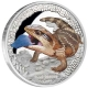 Tuvalu - 1 TVD Reptilien Blauzungenskink 2015 - 1 Oz Silber