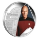 Tuvalu - 1 TVD Star Trek Jean Luc Picard - 1 Oz Silber