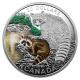 Kanada - 20 CAD Tierbabies Waschbär 2016 - 1 Oz Silber
