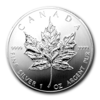 Kanada - 5 CAD Maple Leaf 1992 - 1 Oz Silber