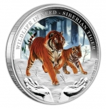 Tuvalu - 1 TVD Wildlife in Need Siberian Tiger 2012 - 1 Oz Silber