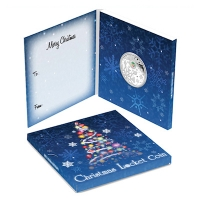 Australien - 1 AUD Christmas Locket - 1 Oz Silber PP Box