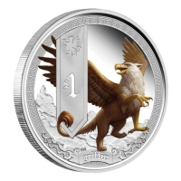 Tuvalu - 1 TVD Mythical Creatures Griffin 2013 - 1 Oz Silber