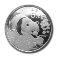 China - 5 Yuan China Panda 1994 - 1/2 Oz Silber