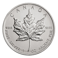 Kanada - 5 CAD Maple Leaf 2008 - 1 Oz Silber