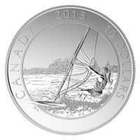 Kanada - 10 CAD Adventure Windsurfing 2015 - 1/2 Oz Silber