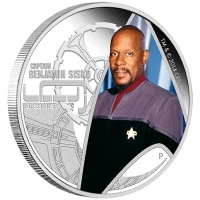Tuvalu - 1 TVD Star Trek Captain Sisko - 1 Oz Silber