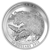 Kanada - 20 CAD Grizzly Serie The Catch 2015 - 1 Oz Silber