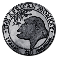 Somalia - The African Monkey 1998 - 1 Oz Silber