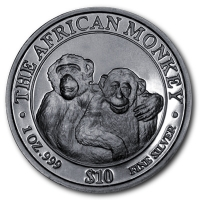 Somalia - The African Monkey 2000 - 1 Oz Silber