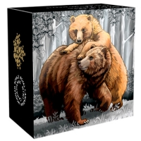 Kanada - 20 CAD Grizzly Serie Togetherness 2015 - 1 Oz Silber
