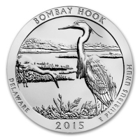 USA - 0,25 USD Bombay Hook National Wildlife Refuge 2015 - 5 Oz Silber