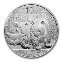 China - 10 Yuan Panda 2010 - 1 Oz Silber