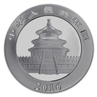 China - 10 Yuan Panda 2016 - 30g Silber