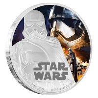 Niue - 2 NZD Star Wars Episode VII Captain Phasma - 1 Oz Silber PP