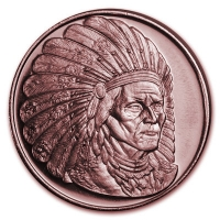 USA - Sitting Bull - 1 Oz Kupfer