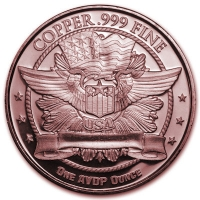 USA - Eagle Head - 1 Oz Kupfer