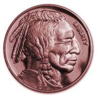 USA - Buffalo Indian Head - 1 Oz Kupfer
