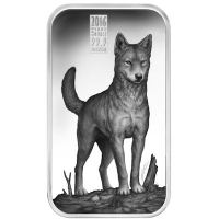 Cook Island - 1 CID Apex Predators Dingo - 1 Oz Silber