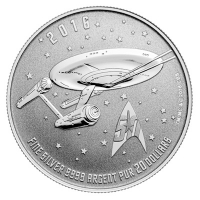 Kanada - 20 CAD $20 for $20 Enterprise 2016 - 1/4 Oz Silber