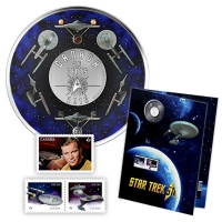 Kanada - 25 Cent Star Trek Stamp and Coin Set - Sonderausgabe