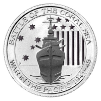 Australien - 0,5 AUD Battle of the Coral Sea - 1/2 Oz Silber