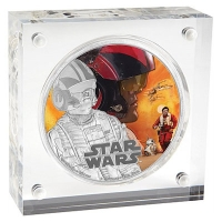 Niue - 2 NZD Star Wars Episode VII Poe Dameron - 1 Oz Silber PP