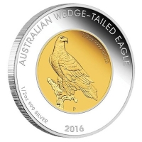Australien - 50 AUD Wedge Tailed Eagle 2016 - Bi-Metall Proof