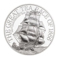Cook Island - 2 CID The Great Tea Race 2016 - 1/2 Oz Silber Proof